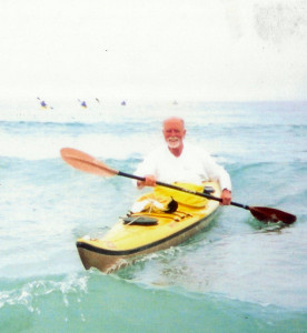 Don Kayaking in surf 2010